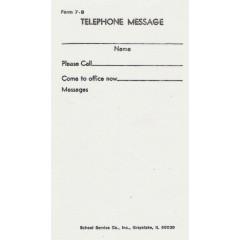 7B - Telephone Messsage