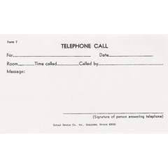 7 - Telephone Call