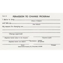 44 - Permission to Change Program