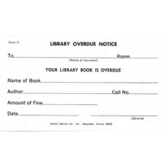 71 - Library Overdue Notice