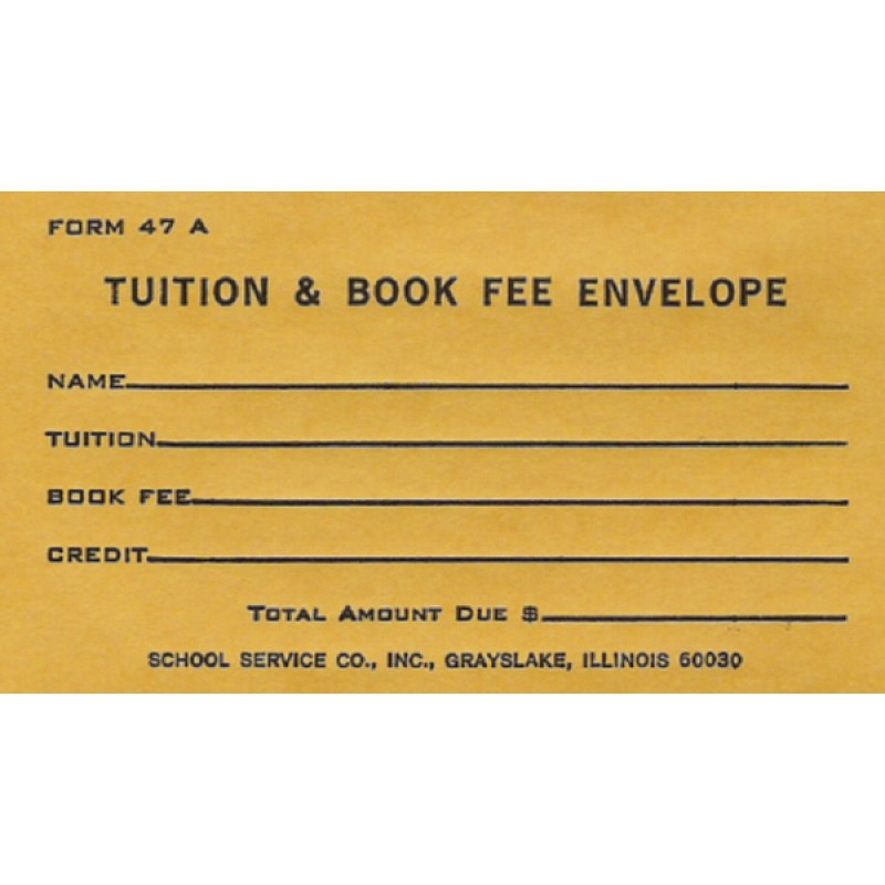 47A - Tuition & Book Fee Envelope - Envelopes & Labels