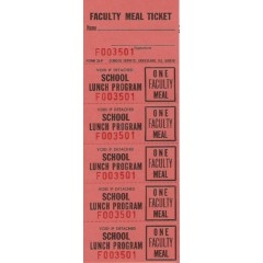 26F - Faculty Meal Strip Tickets