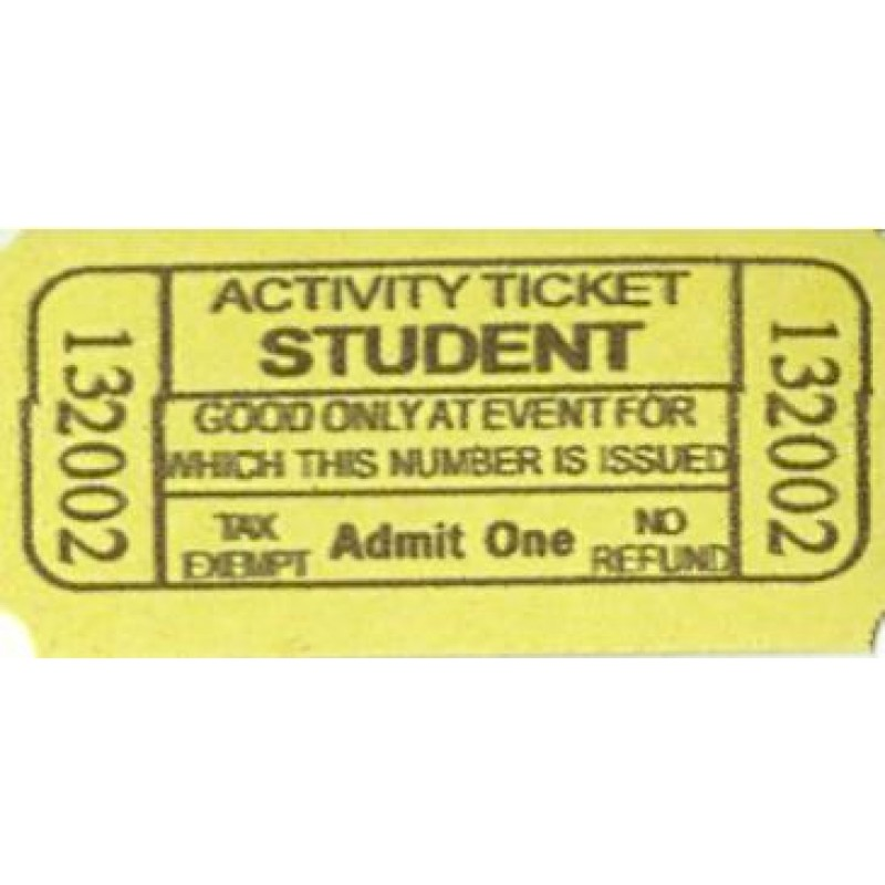 66A - Student Activity Roll Tickets - Meal & Activity