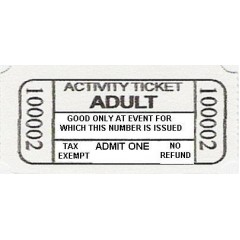 66B - Adult Activity Roll Tickets