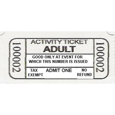 66B - Adult Activity Roll Tickets - Meal & Activity