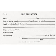 53 - Field Trip Notice