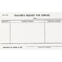 34B - Teacher's Request for Supplies