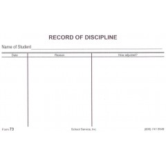 73 - Record of Discipline