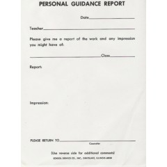 67A - Personal Guidance Report