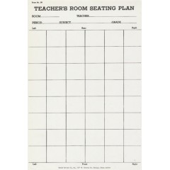 36 - Teacher's Room Seating Plan