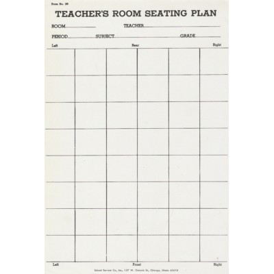 36 - Teacher s Room Seating Plan - Padded Forms