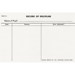 73A - Large Record of Discipline