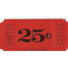 252T - 25 Cents Roll Tickets