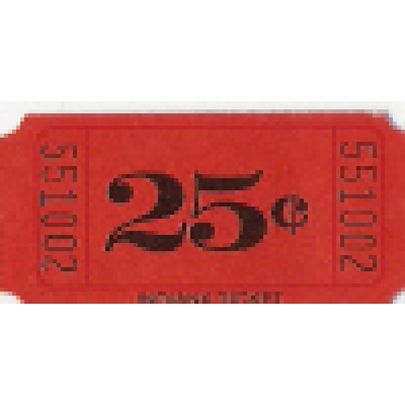 252T - 25 Cents Roll Tickets - Meal & Activity