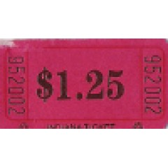 254T - $1.25 Roll Tickets