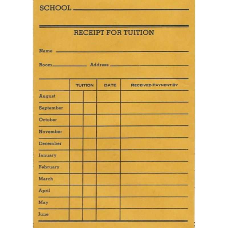 47B - Receipt for Tuition Envelope - Envelopes