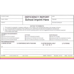 45G - Deficiency Report w/School Imprint