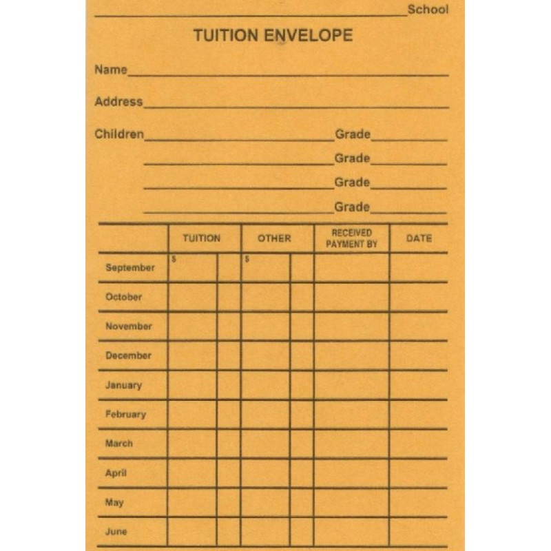 816E - Tuition Envelope - Envelopes