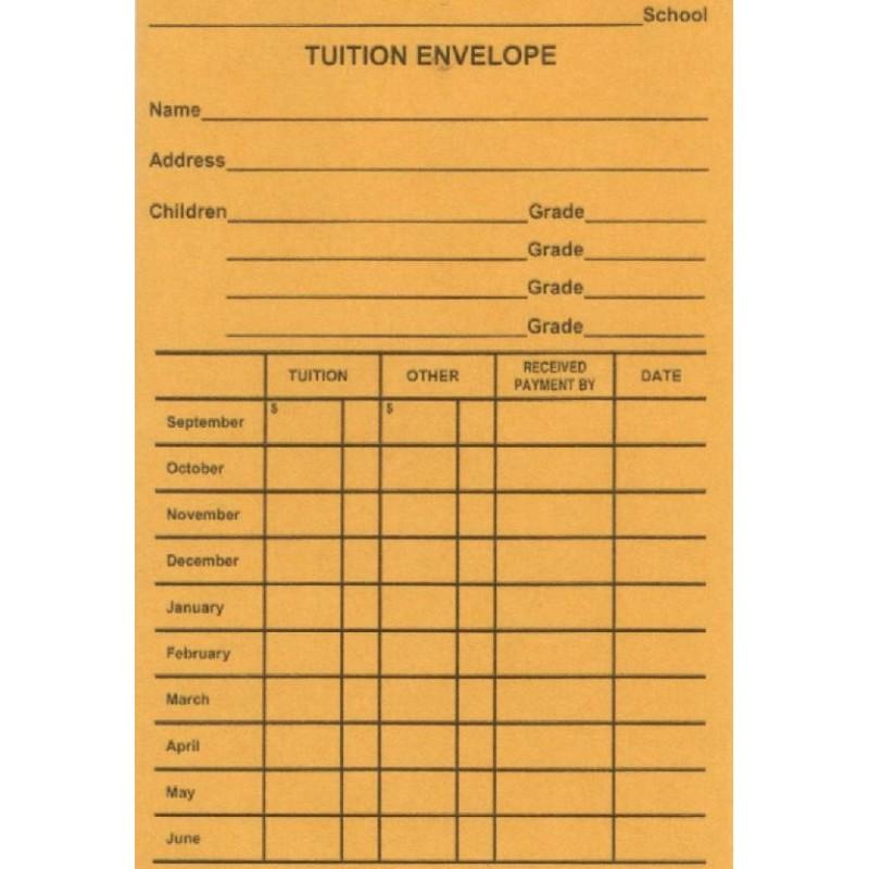 816E - Tuition Envelope - Envelopes
