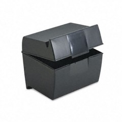 601 - 4 x 6 Plastic Index Card Box