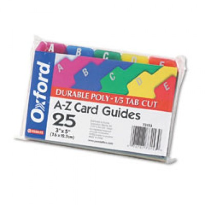 602 - 3 x 5 Size A-Z Card Guides - Index Card Forms