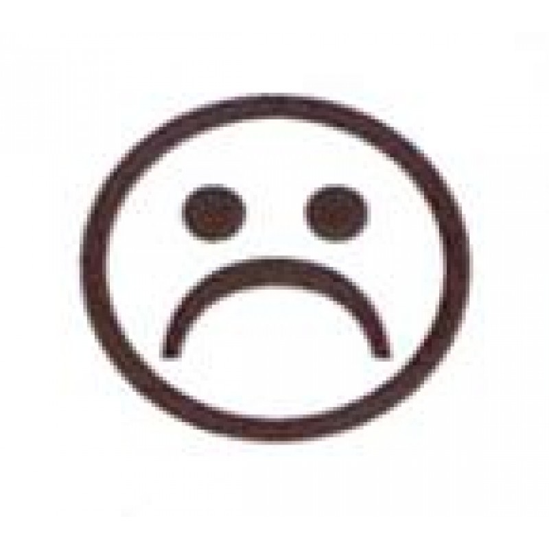 AS9 - Small Sad Face Stamp - Teacher Stamps