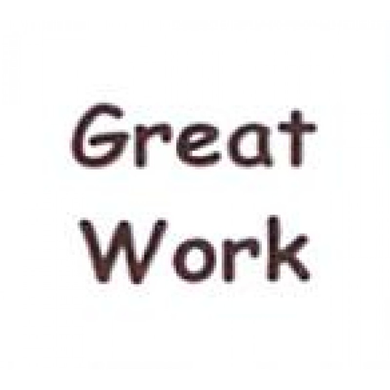 AS14 - Small Great Work Stamp - Teacher Stamps
