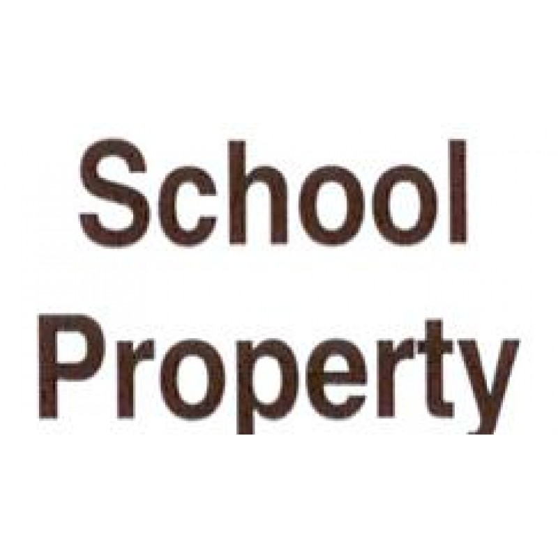 AS41 - Large School Property Stamp - School Office & Business Office Stamps