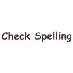 AS64 - Large Check Spelling Stamp