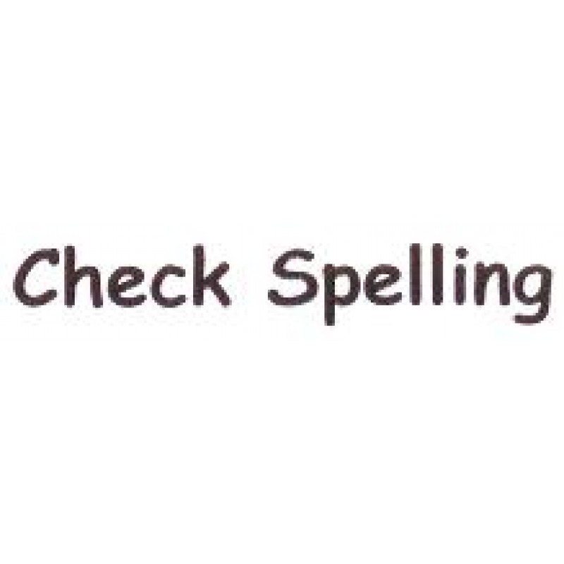 AS64 - Large Check Spelling Stamp - Teacher Stamps