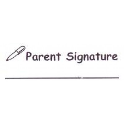 AS45 - Large Parent Signature Stamp - School Office & Business Office Stamps