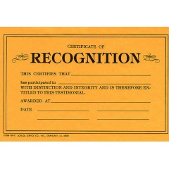 69C - Certificate of Recognition