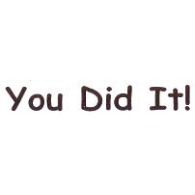 AS34 - Large You Did It! Stamp - Teacher Stamps