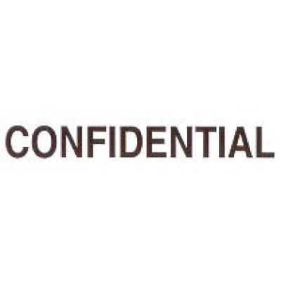 AS71 - Large Confidential Stamp - School Office & Business Office Stamps