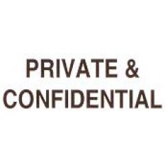 AS81 - Large Private & Confidential Stamp