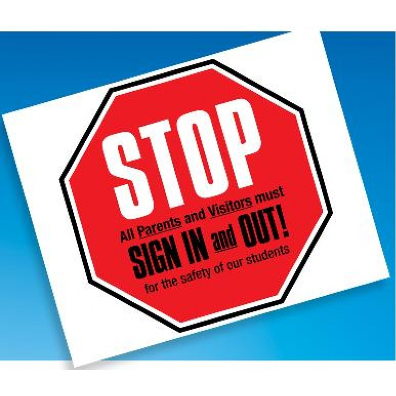 101E - Visitor Sign In Window Decal - One Day Visitor Label Registry Books
