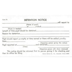 75 - Detention Slip (White)