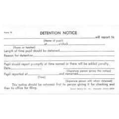 75 - Detention Slip (White)