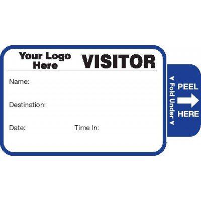 804 - Expiring Visitor Label Badges Book - One Day Visitor Label Registry Books