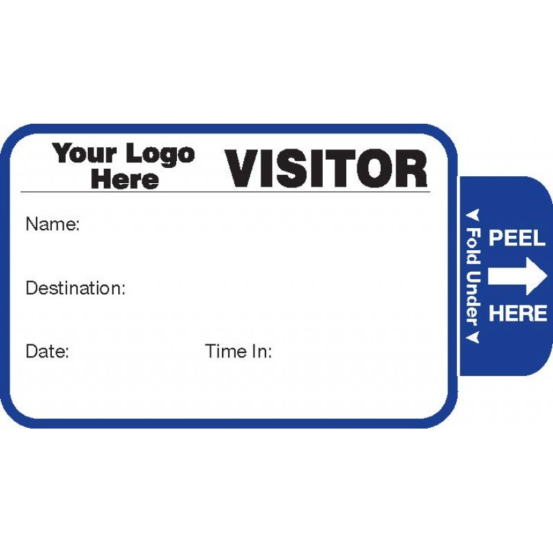 804 - Expiring Visitor Label Badges Book - One Day Visitor Label Registry Books