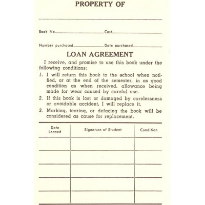 1C - Loan Agreement Book Labels - Padded Forms