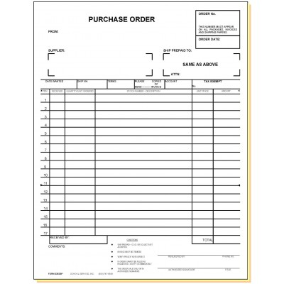 33E3 - Three-Part Purchase Order - Carbonless Forms