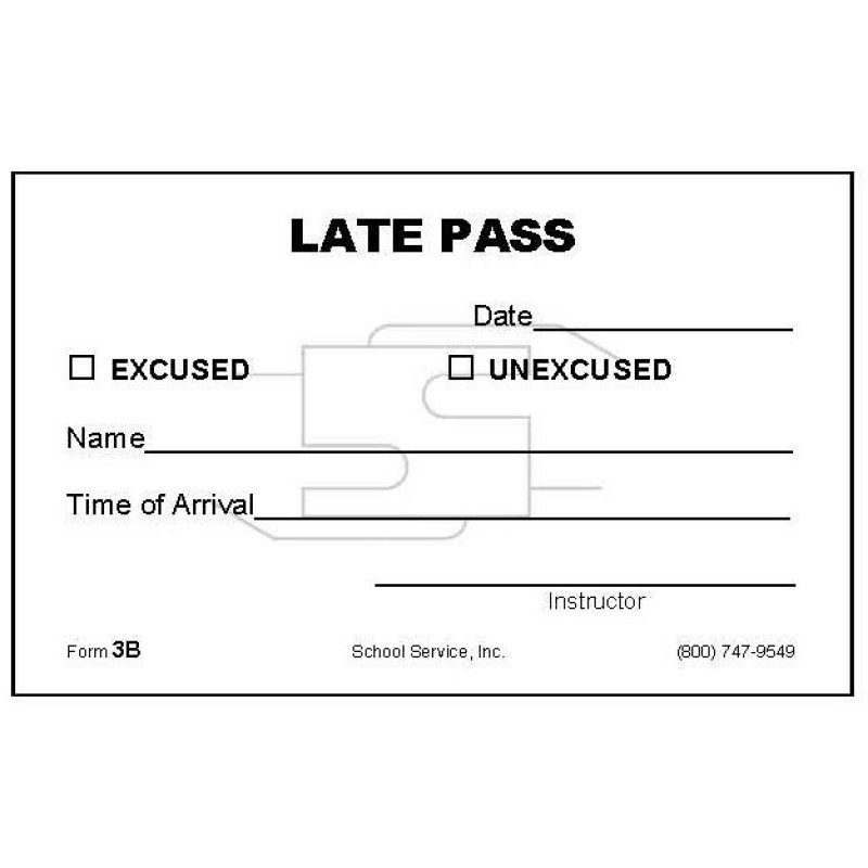 3B - Late Pass - Padded Forms