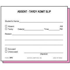 3P2 - Two-Part Absent-Tardy Admit