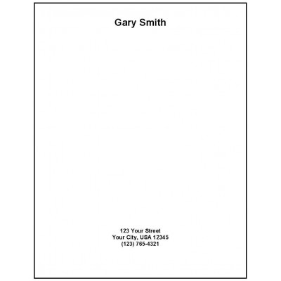 68G - Personalized Note Pad w/Name & Address - Padded Forms