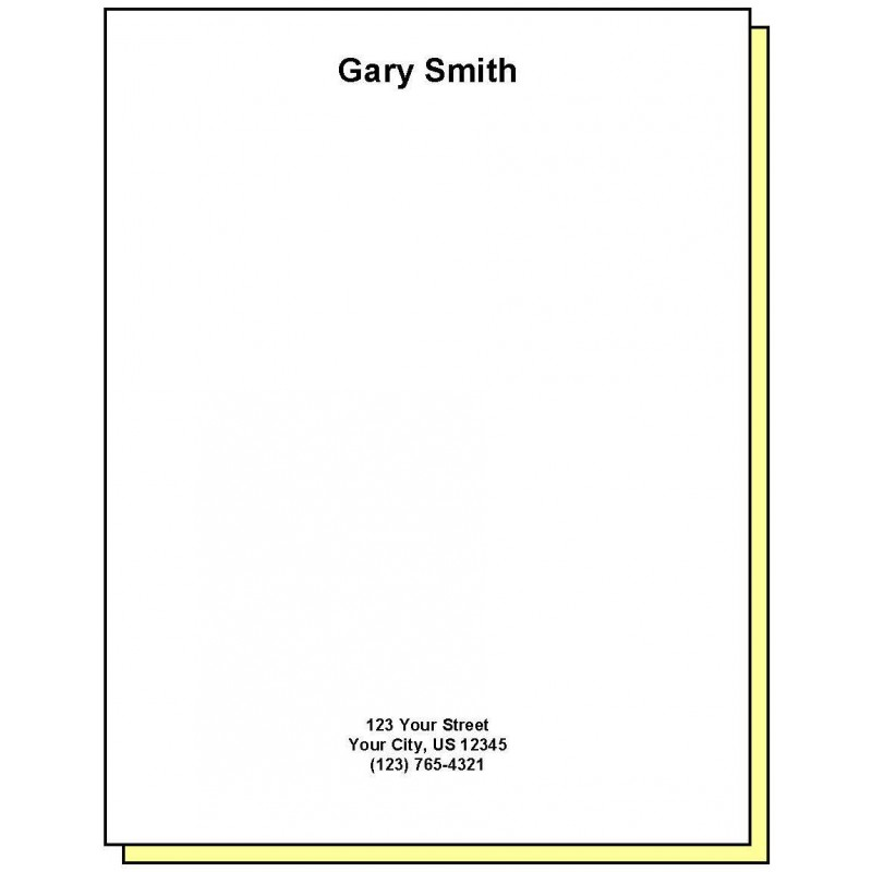 68G2 - Two-Part Personalized Note Pad w/Name & Address - Carbonless Forms
